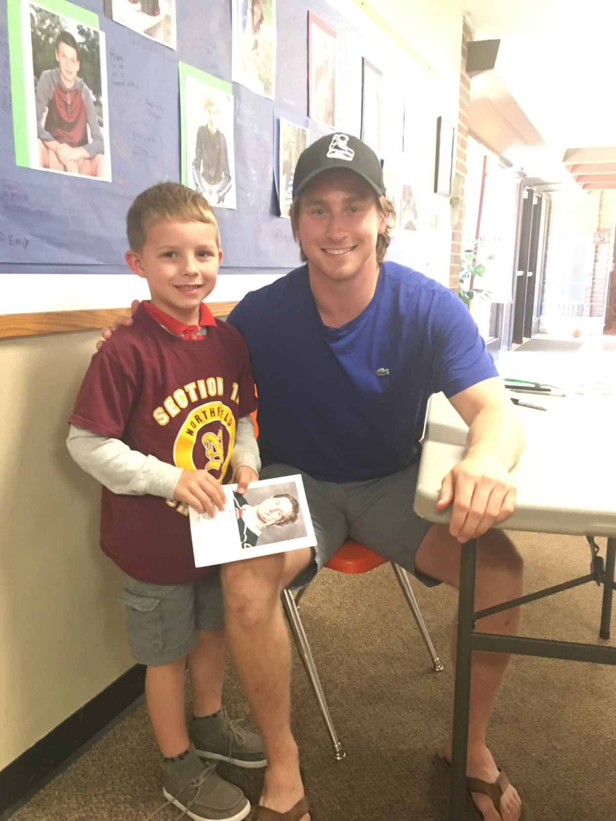 MN H.S.: Former Gophers Hockey Standout Kloos Visits St. Dominic Students
