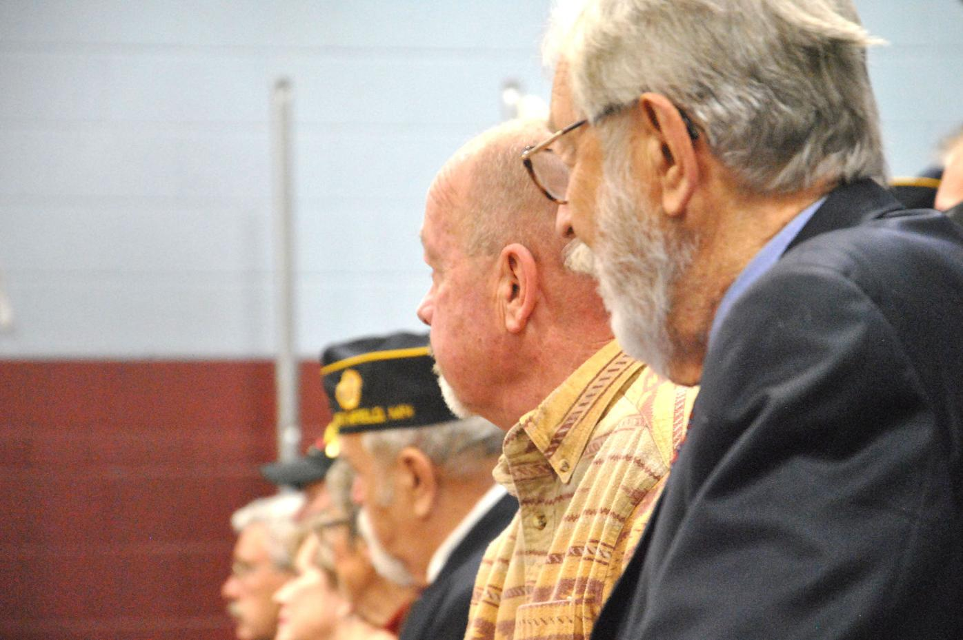 Bridgewater Veterans Day assembly veterans
