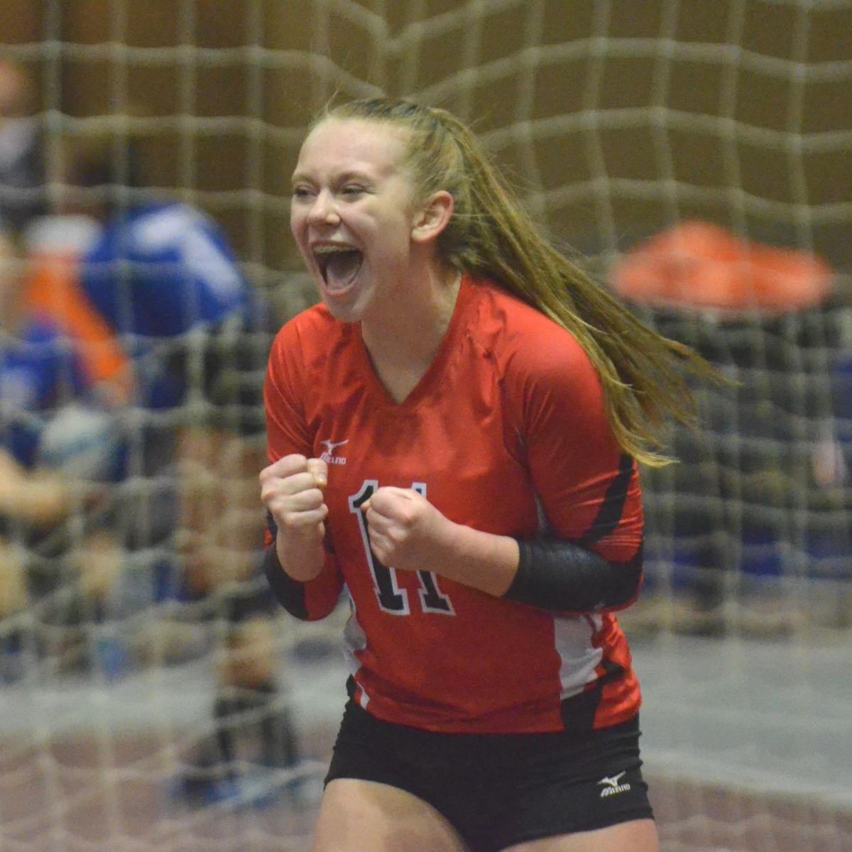 Bethlehem Academy vs. Hayfield, Subsection 1A West volleyball finals, Nov. 2