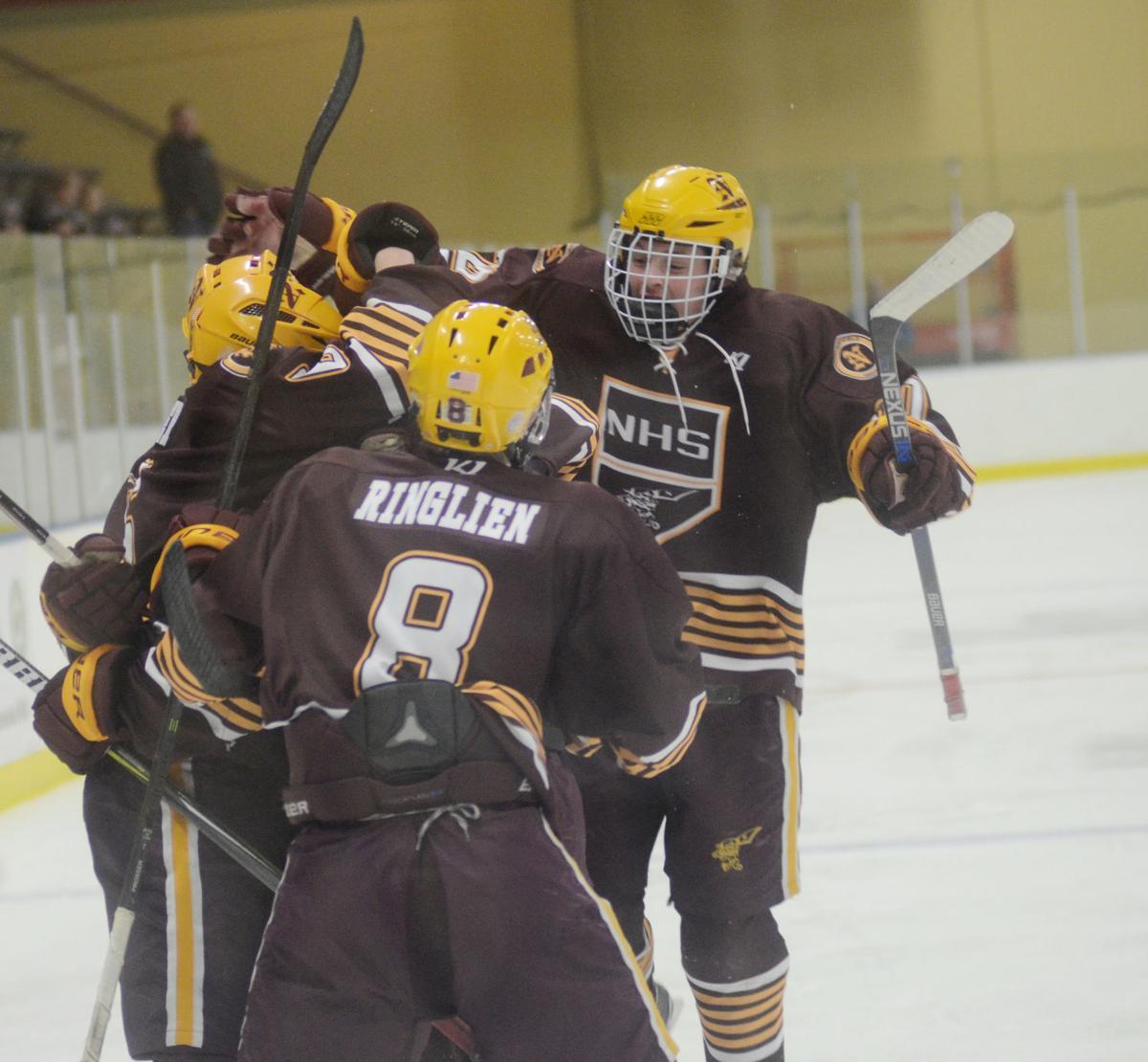 Boys hockey: Raiders crash the net, advance to Section 4A semis