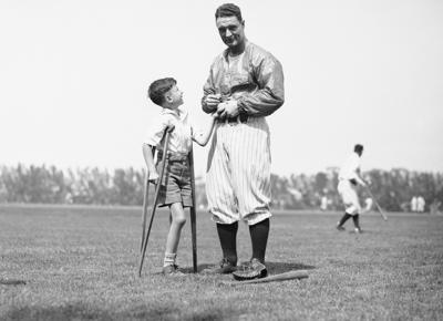 Lou Gehrig And Young Fan 1932