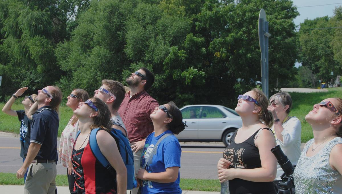 Faribault catches a glimpse of the solar eclipse