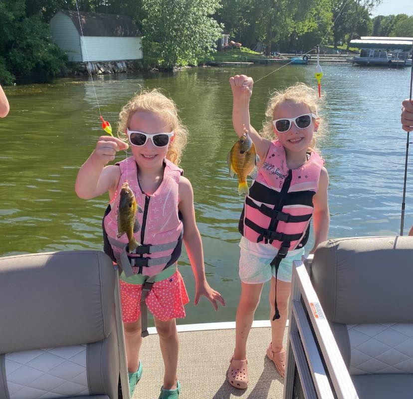 Fish Payton & Ashlyn Widmer, age 5 West Jefferson Sunday