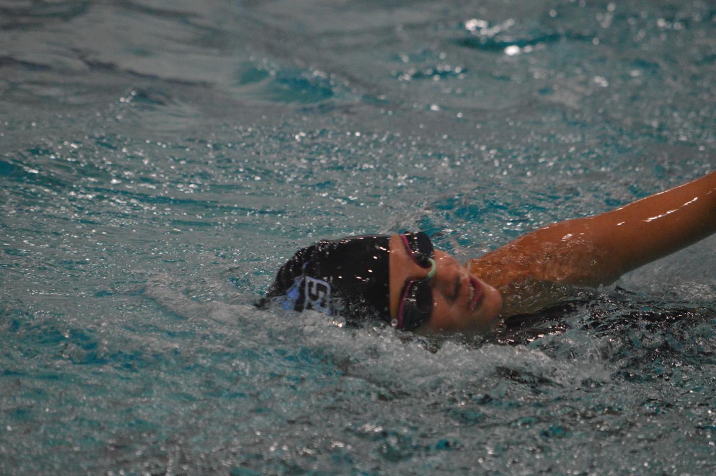 TCU Swim practice
