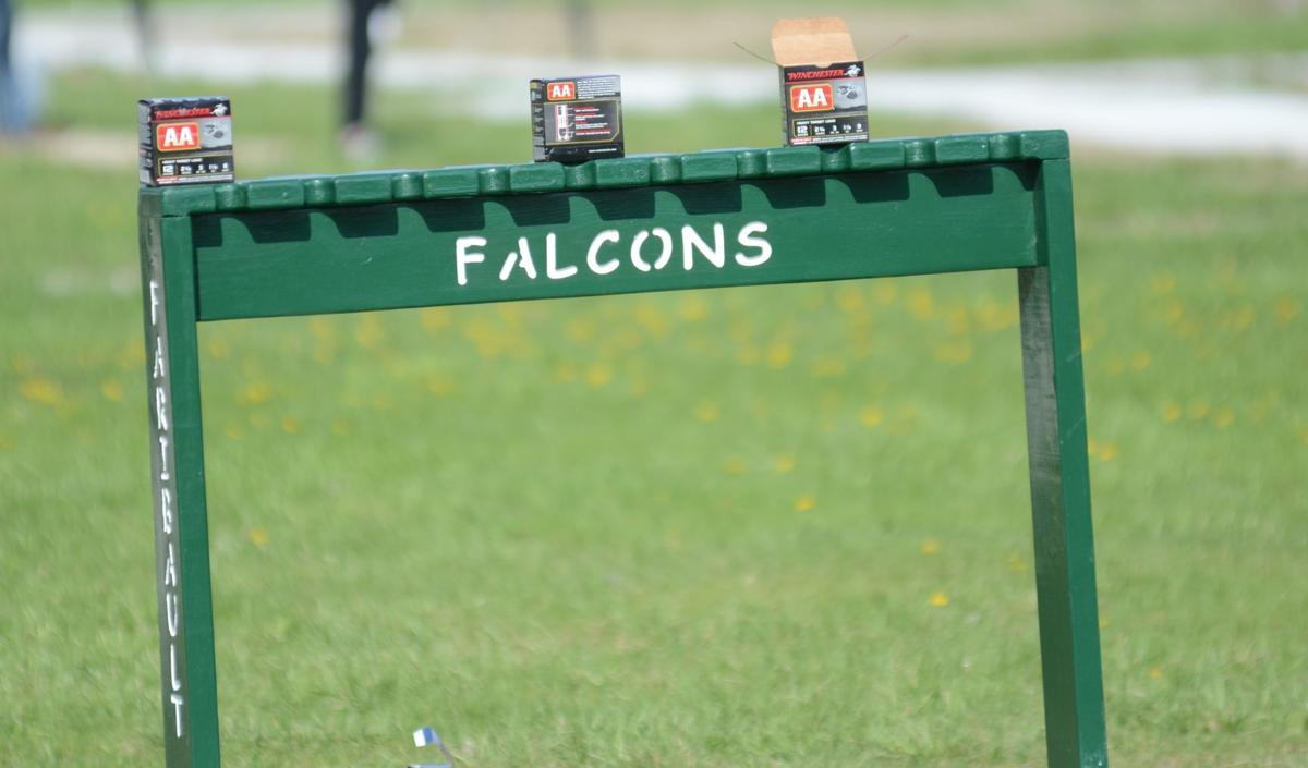 Faribault Falcons trap shooting rack