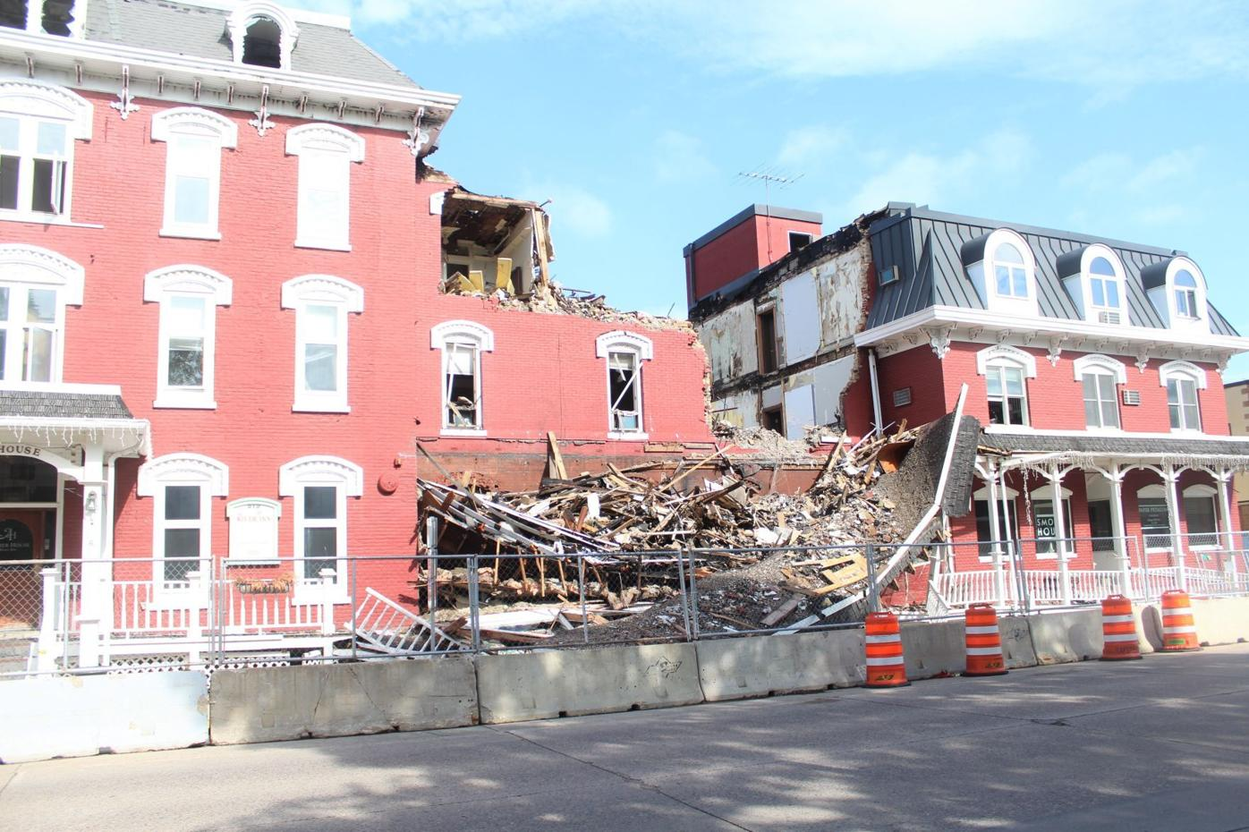 Archer House collapsed portico