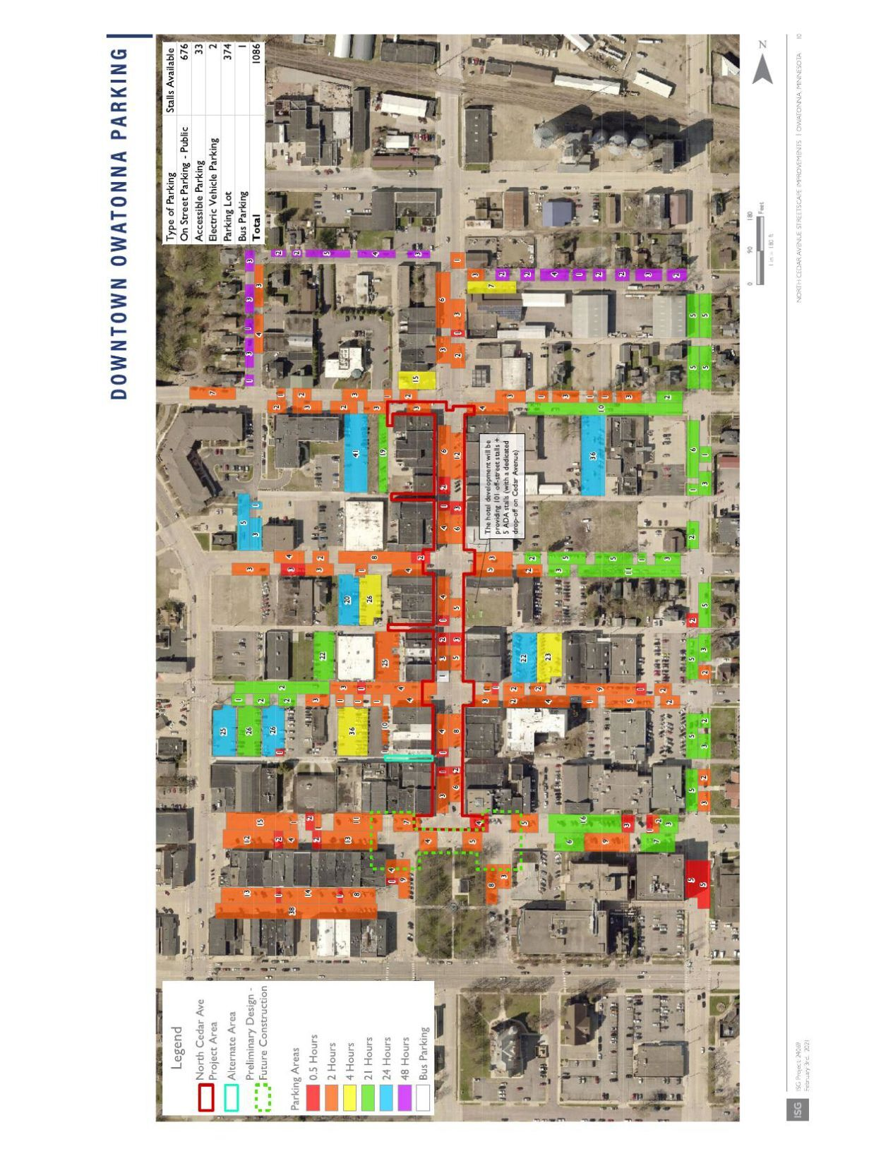 Downtown Owatonna Parking Sheet