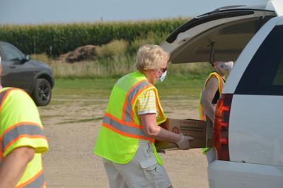 Le Sueur County COVID-19 Pandemic Food Distribution Pickup