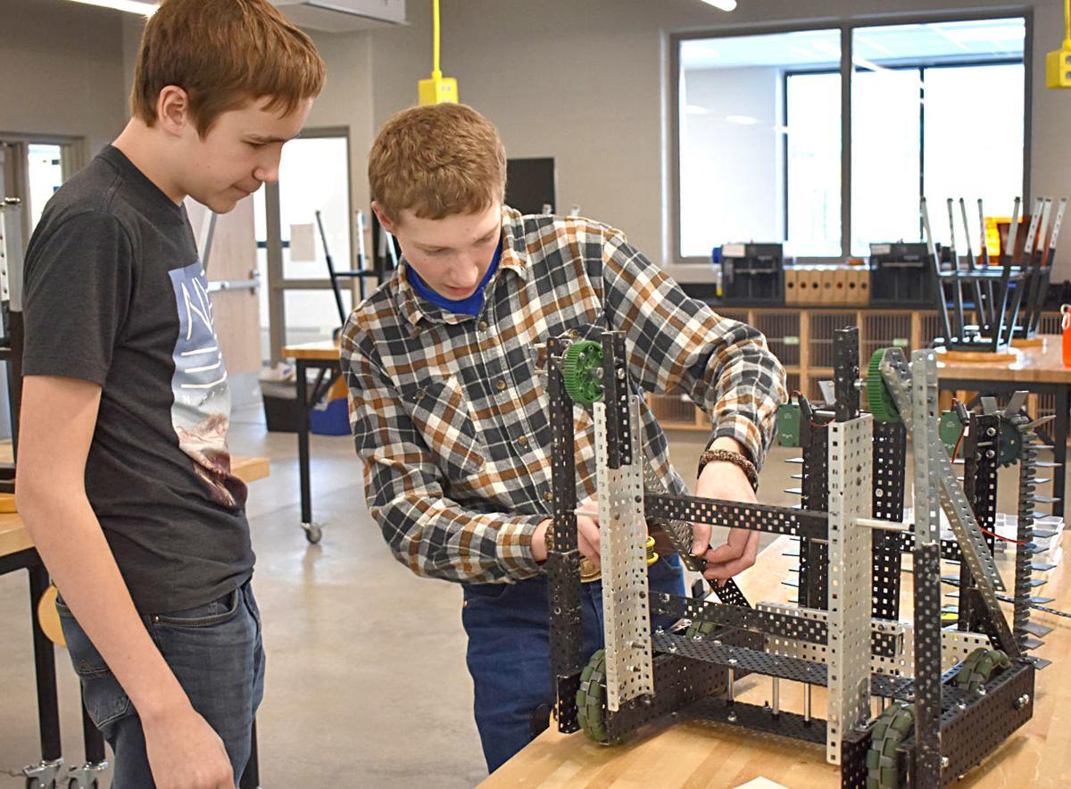 Excellence award earns freshmen robotics team a spot at state