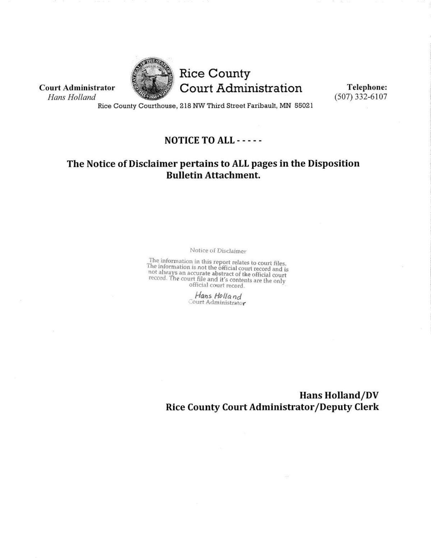 Nov. 6 through Nov. 8 court log