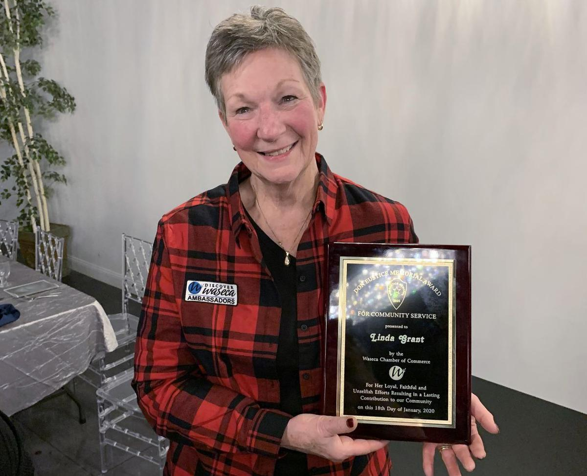 Linda Grant honored with the 2020 Don Eustice Community Service award