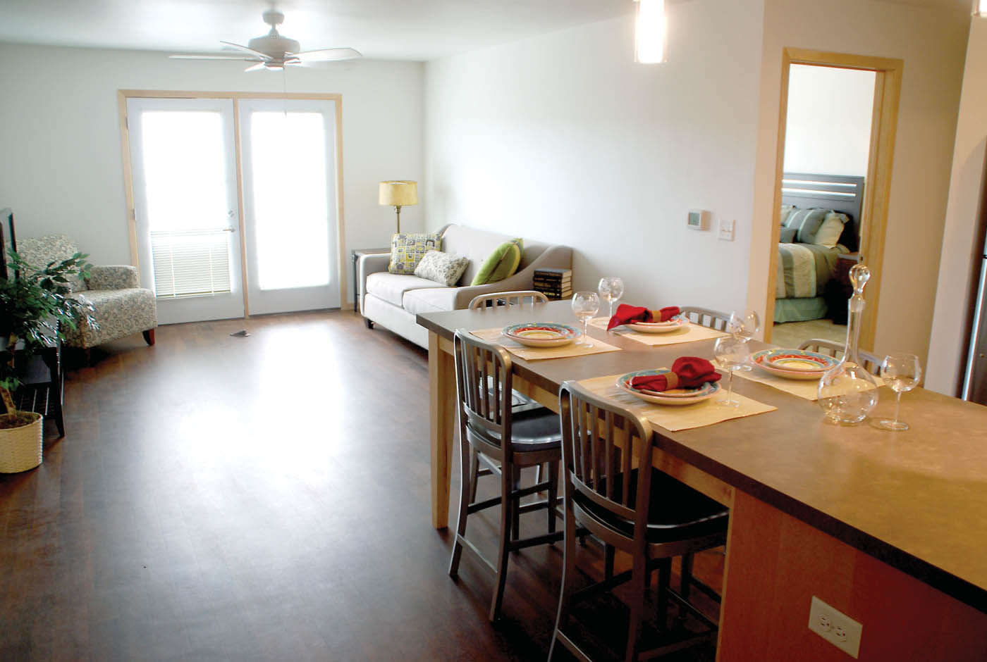 A Fully Furnished Model Apartment Is Available For Viewing On The Third  Floor Of The Soon To Be Open Northgate Apartments In Downtown Owatonna.