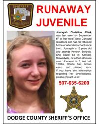 Sheriff asking for help to find runaway Kenyon student