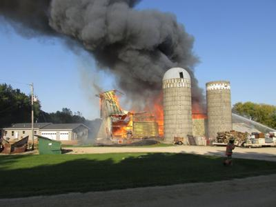 New Market Twp. barn fire