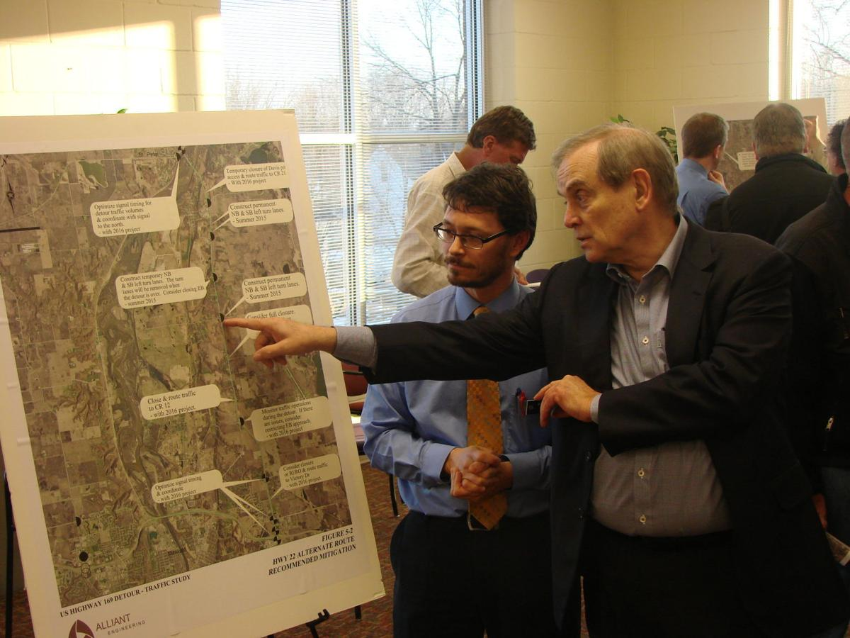 On the planning board: U.S. Hwy. 169 road construction