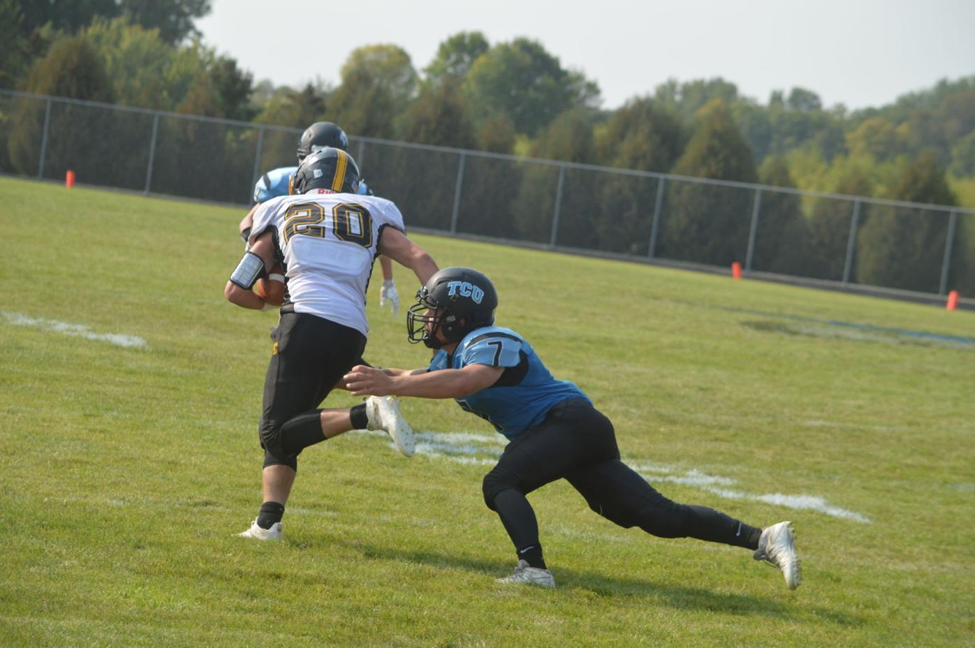 TCU football tackle