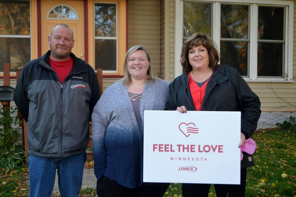 Waseca residents receive new furnace through Feel the Love program