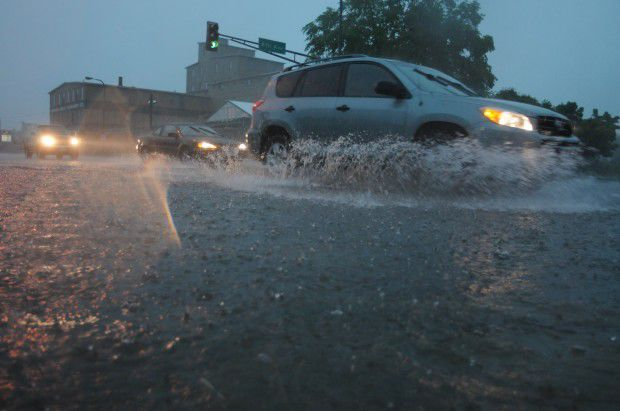Flooding event in Faribault stock