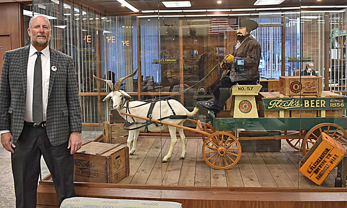 State Bank's Carlander expands Fleckenstein collection with life-size model