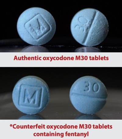 Real vs. fake oxycodone