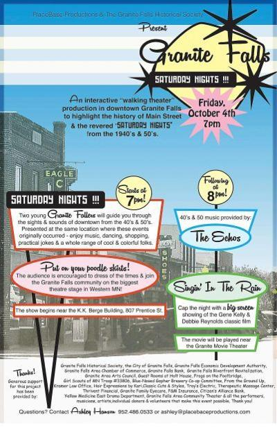 Granite Falls: Saturday Nights!  Walking Theater to celebrate the stories of downtown