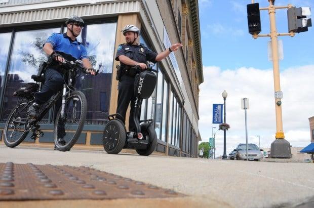 Faribault Police patrol downtown