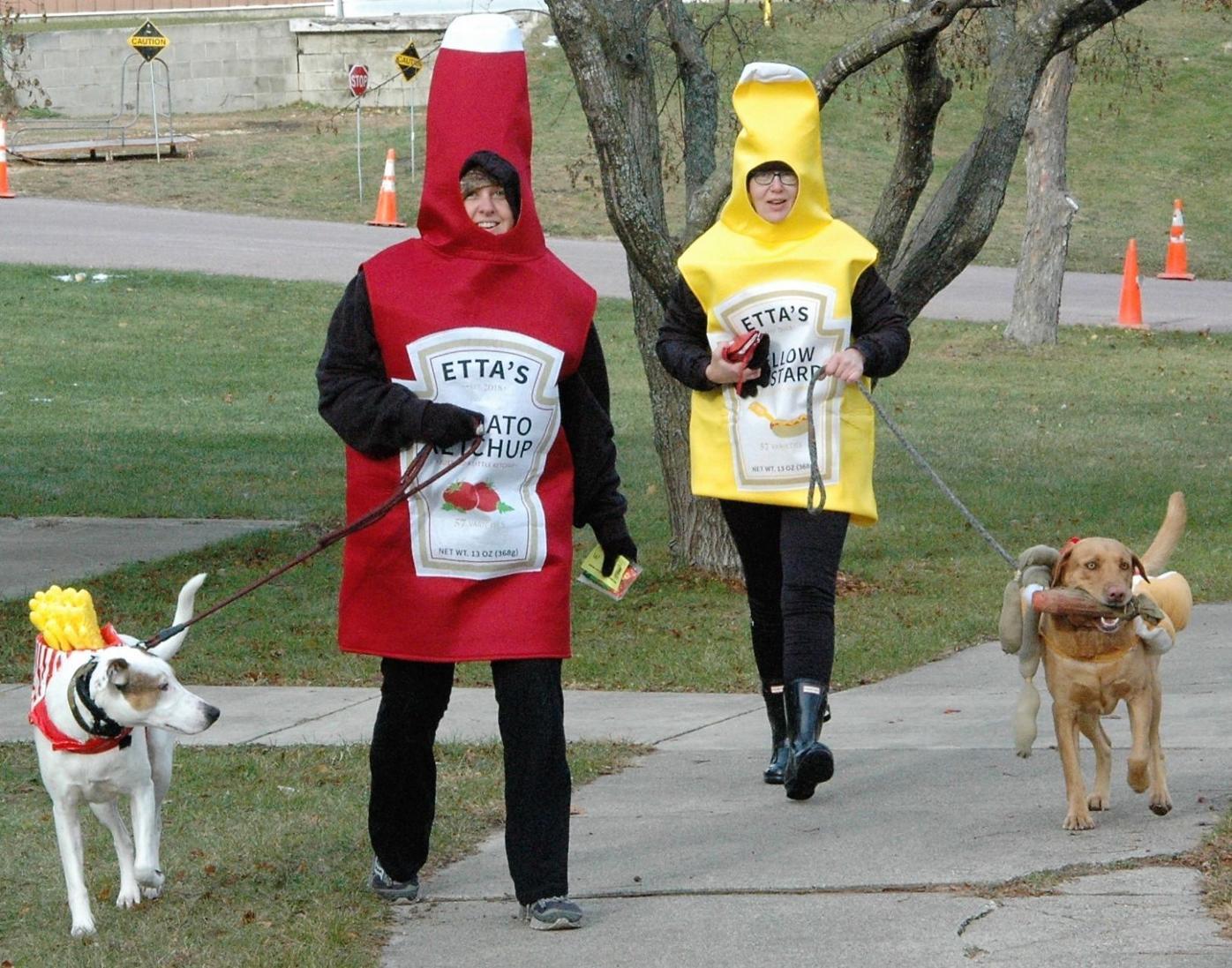 Paws Walk Mustard and Ketchup.JPG