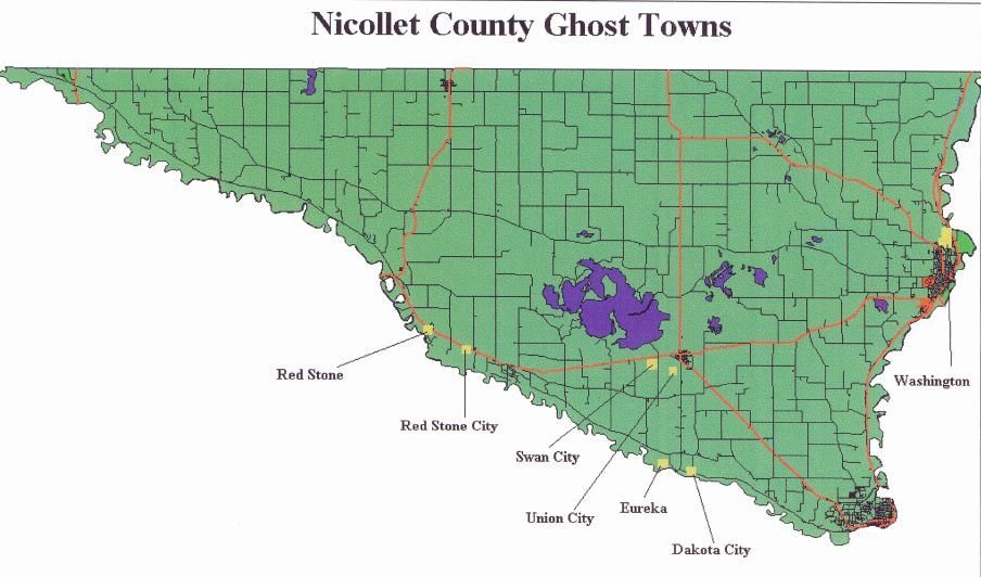 Nicollet County Ghost Towns
