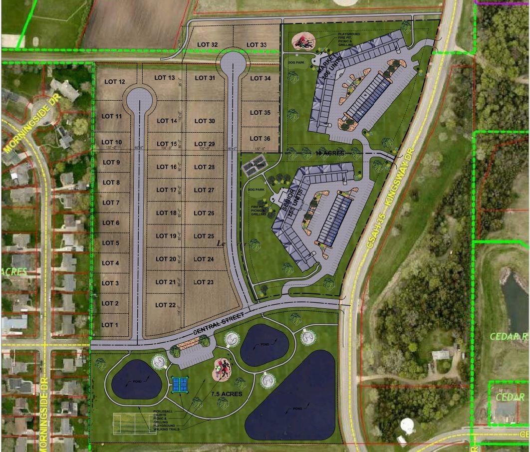 Le Sueur land development concept plan