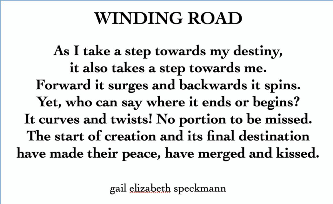 Gail Speckmann's poem