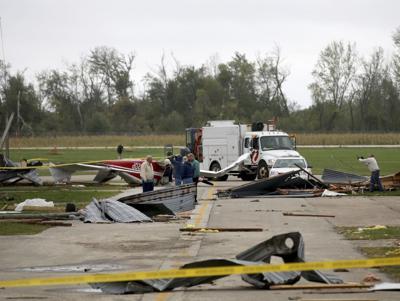 Airport tornado