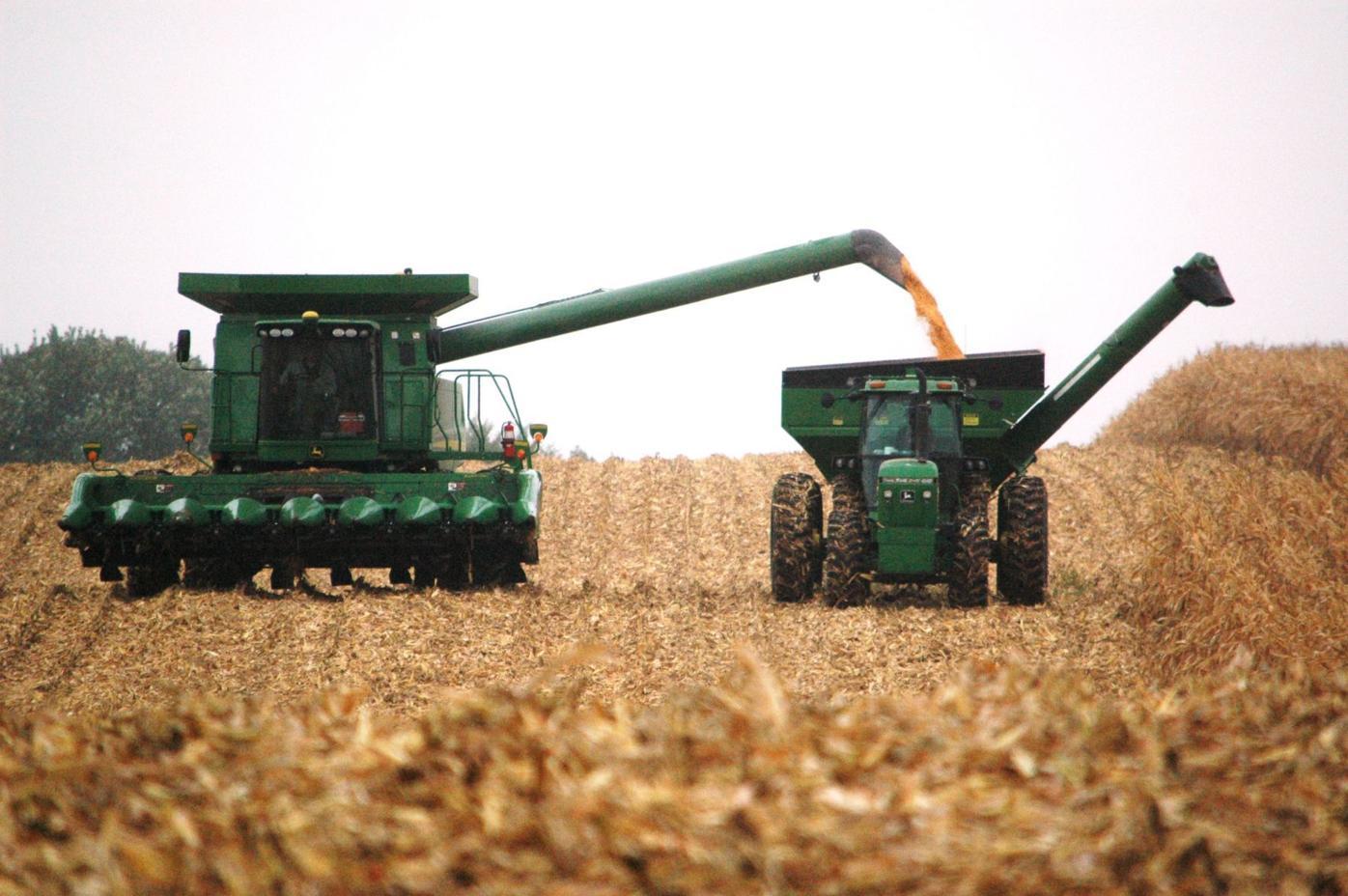 Farm harvest slowed