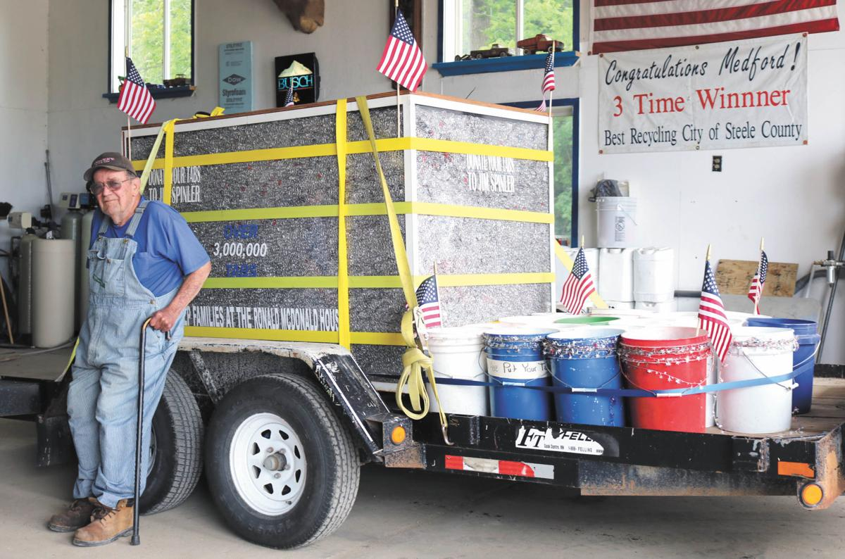 Medford man set to donate renown pop tab collection after one last parade