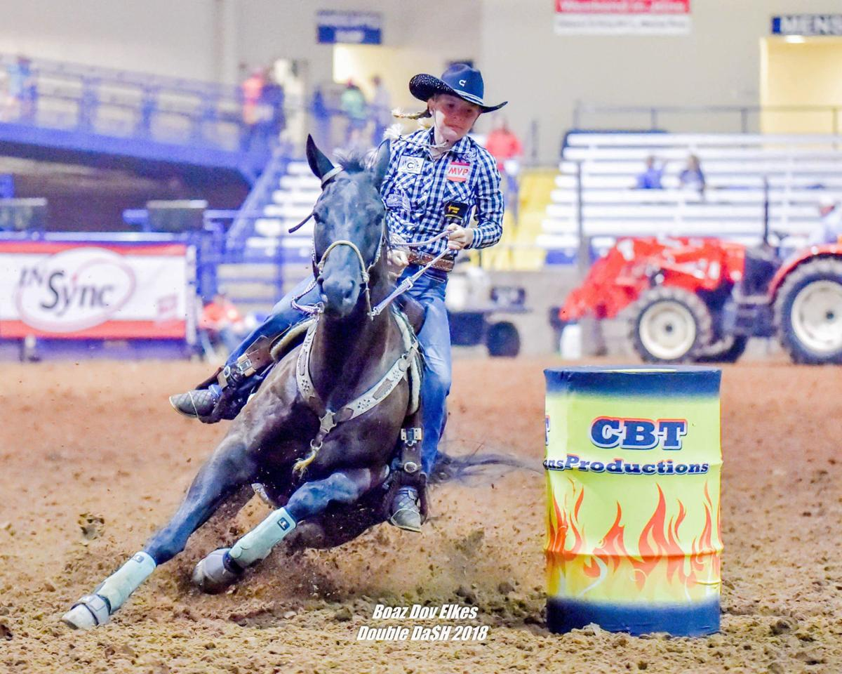 Minnesota girl competing with best barrel racers in the
