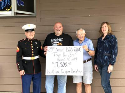 Bikers of Blooming Prairie raise record amount for 2019 Steele County Toys for Tots Program