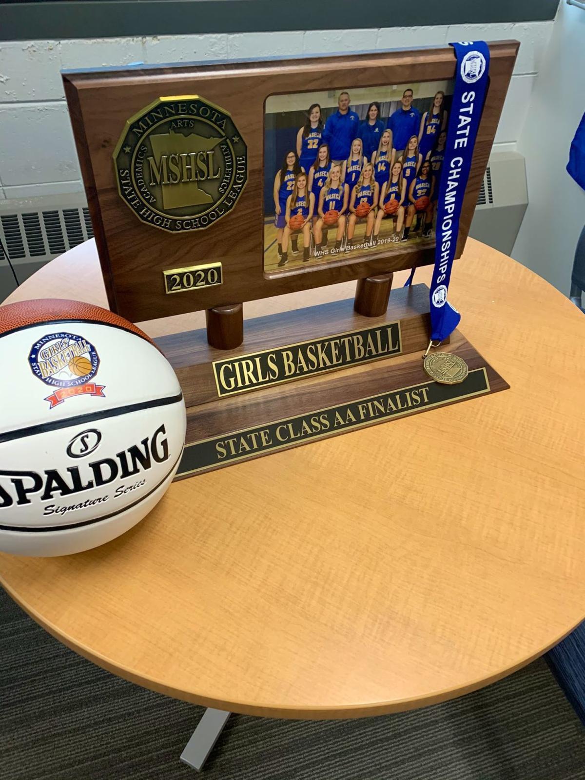 Girls basketball trophy