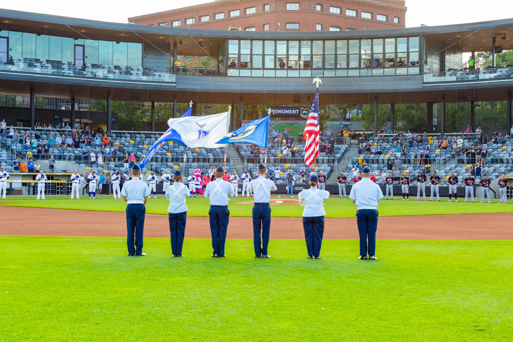 Stanton Civil Air Patrol Honor Guard at Saint Paul Saints - Photo by Curt Johnson - 1.jpg