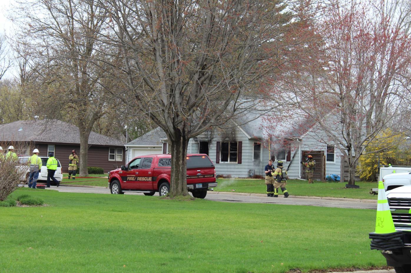 April 12 2021 Owatonna house fire 1