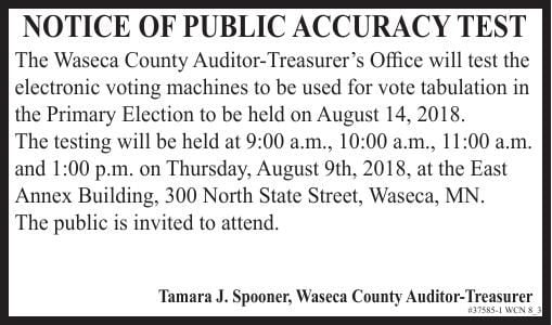 37585-1 - Waseca Public Accuracy Test