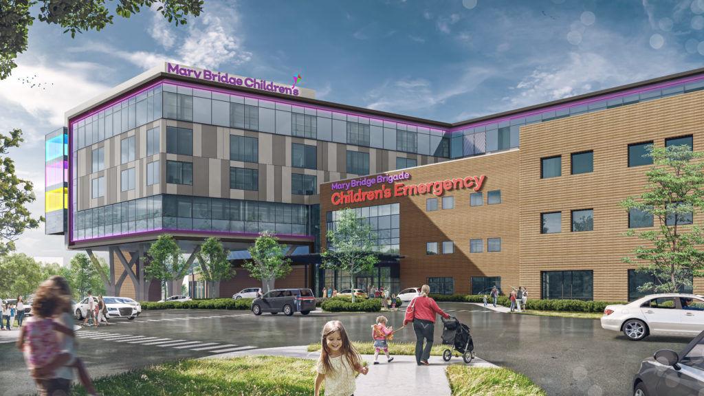 Renderings Released for Tacoma's New Mary Bridge Children's Hospital