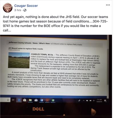 Cougar Soccer screen grab
