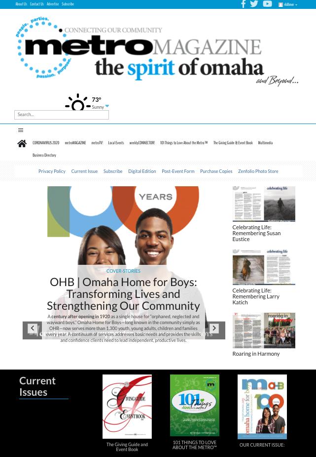metro MAGAZINE, Spirit of Omaha.com, buyOmahaNOW!, Omaha's Best Event Resource, Advertise online