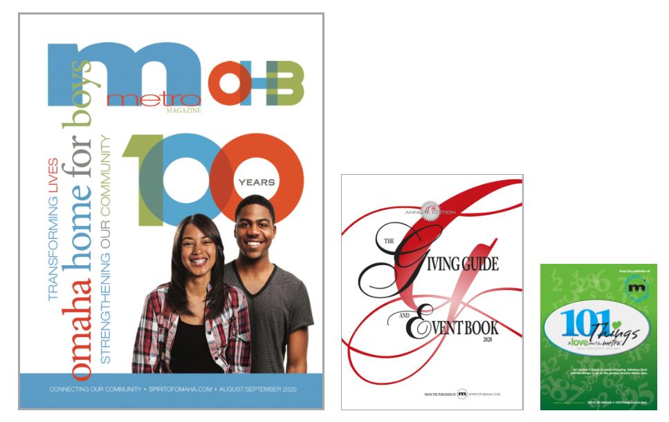 metro MAGAZINE, Spirit of Omaha.com, buyOmahaNOW!, Omaha's Best Event Resource, advertise in the magazine