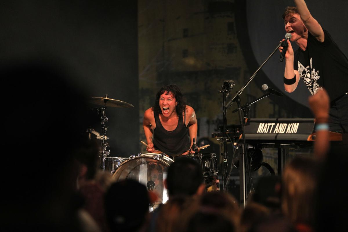 Matt and Kim at the Ogden Twilight Concert Series 03