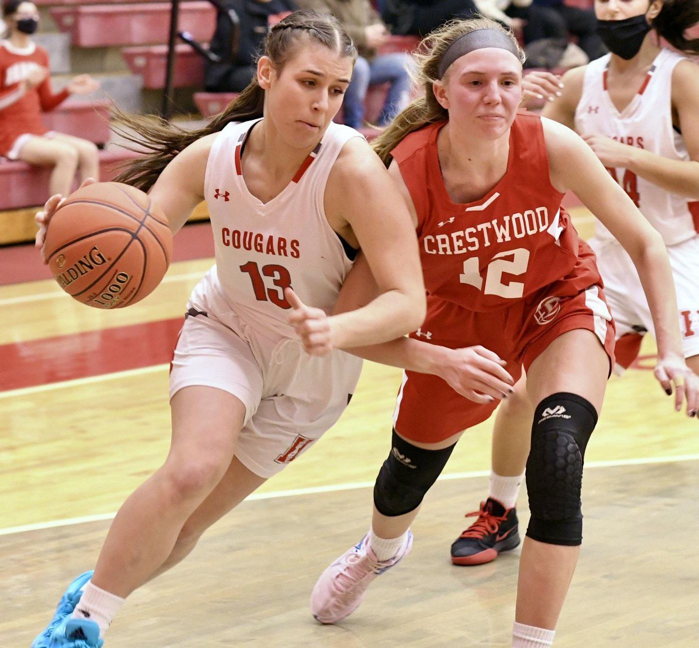 H.S. GIRLS BASKETBALL: Lady Cougars click on senior night, beat Crestwood