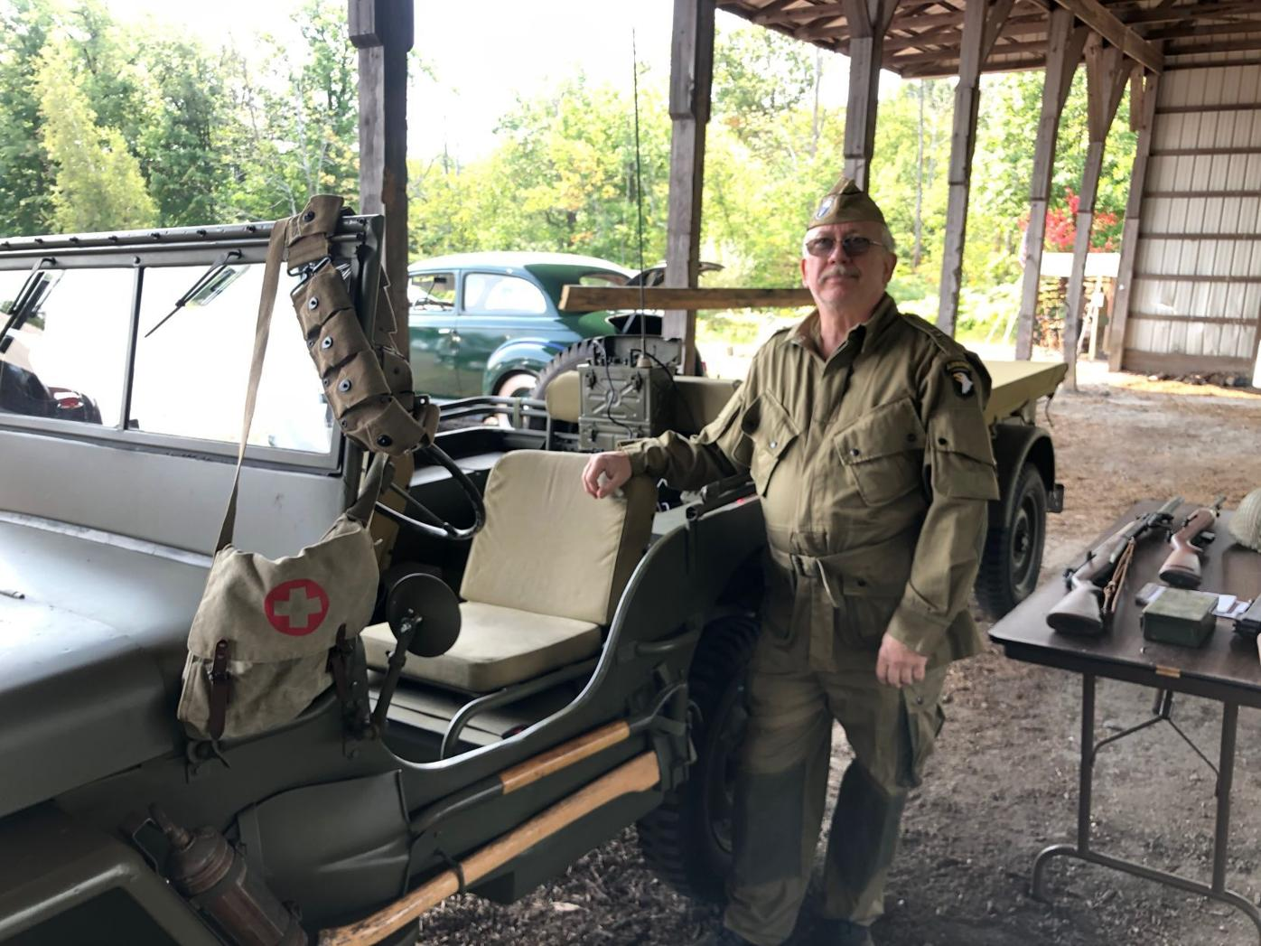 Freeland man shows Jeep at WWII weekend