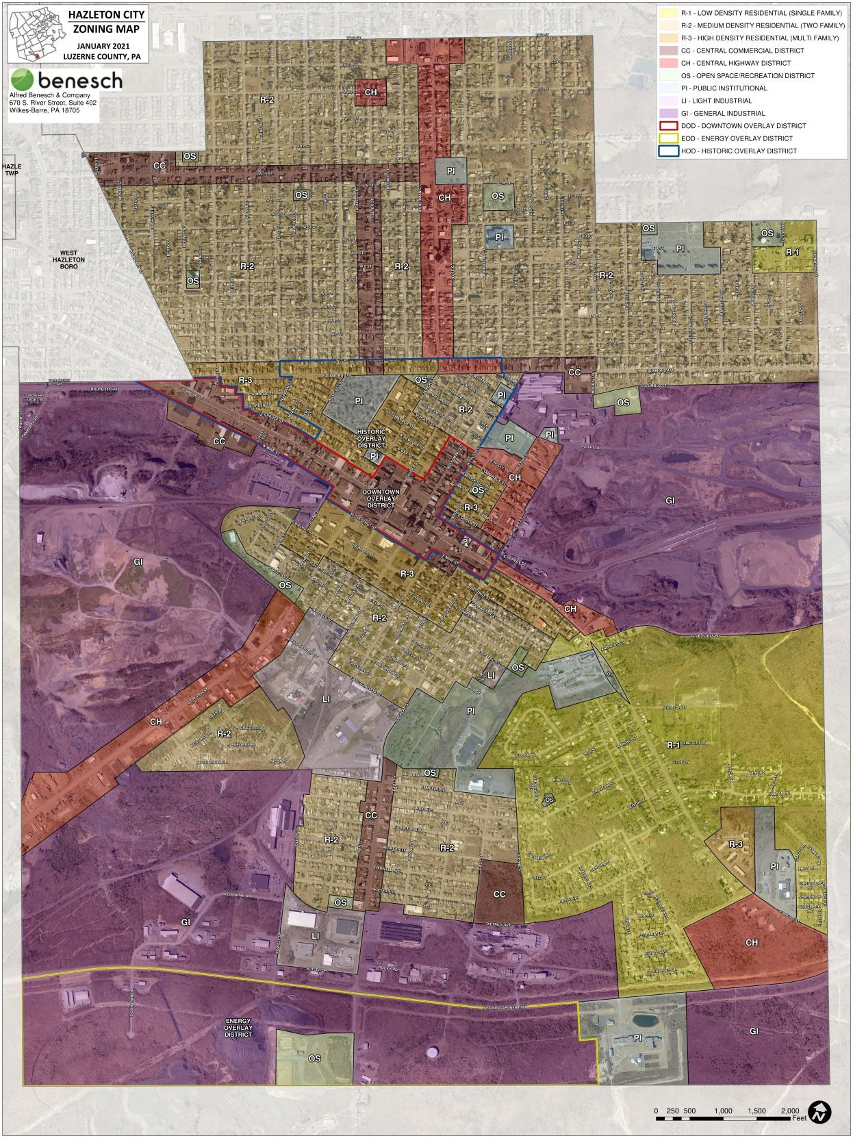 Proposed city zoning map