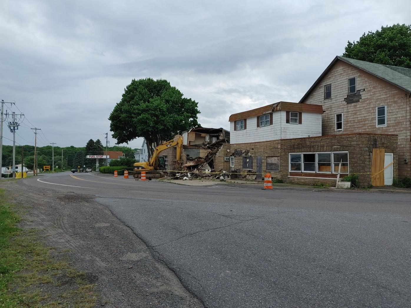 Former gas station collapse in Foster Twp.