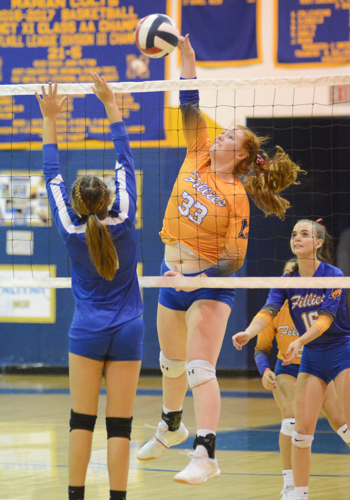 Young girls dig Metro Volleyball practices