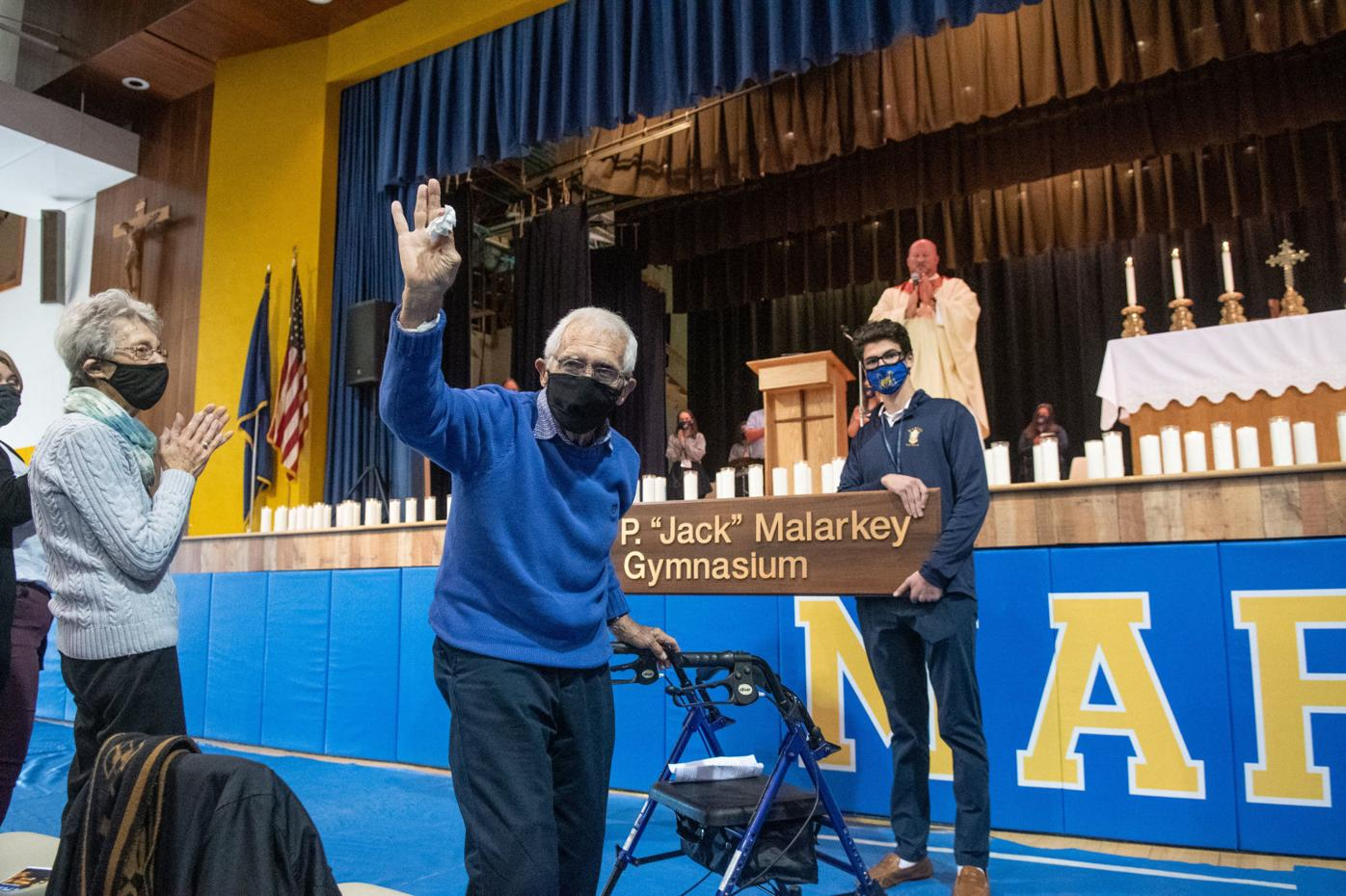 Marian Catholic honors retired principal Jack Malarkey with gym naming